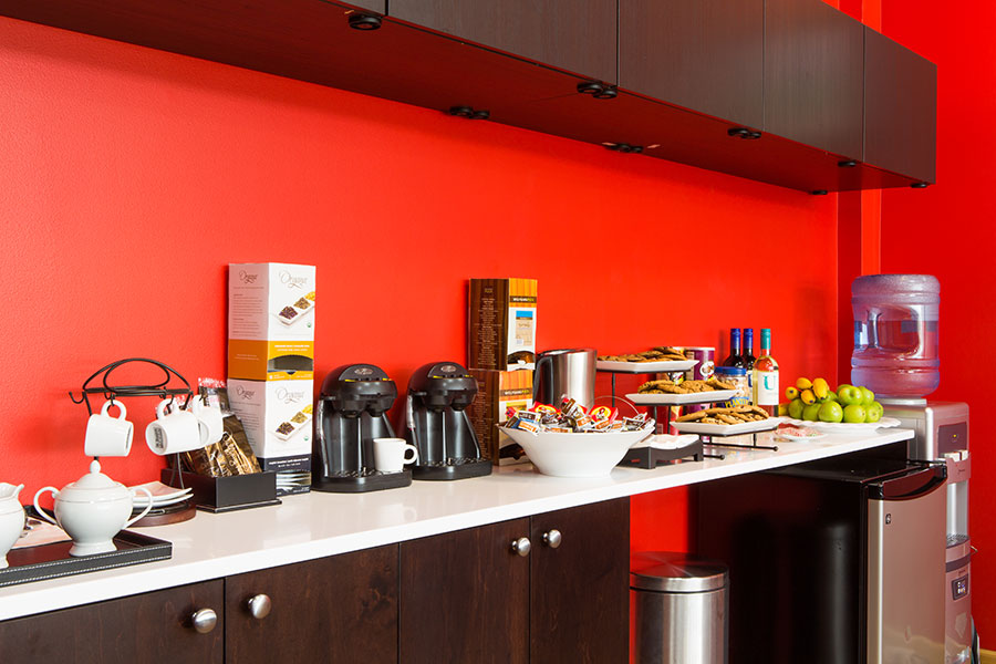 VIP Flyers Club Airport Lounge Kitchenette